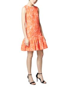 Warehouse Bonded Lace Peplum Dress