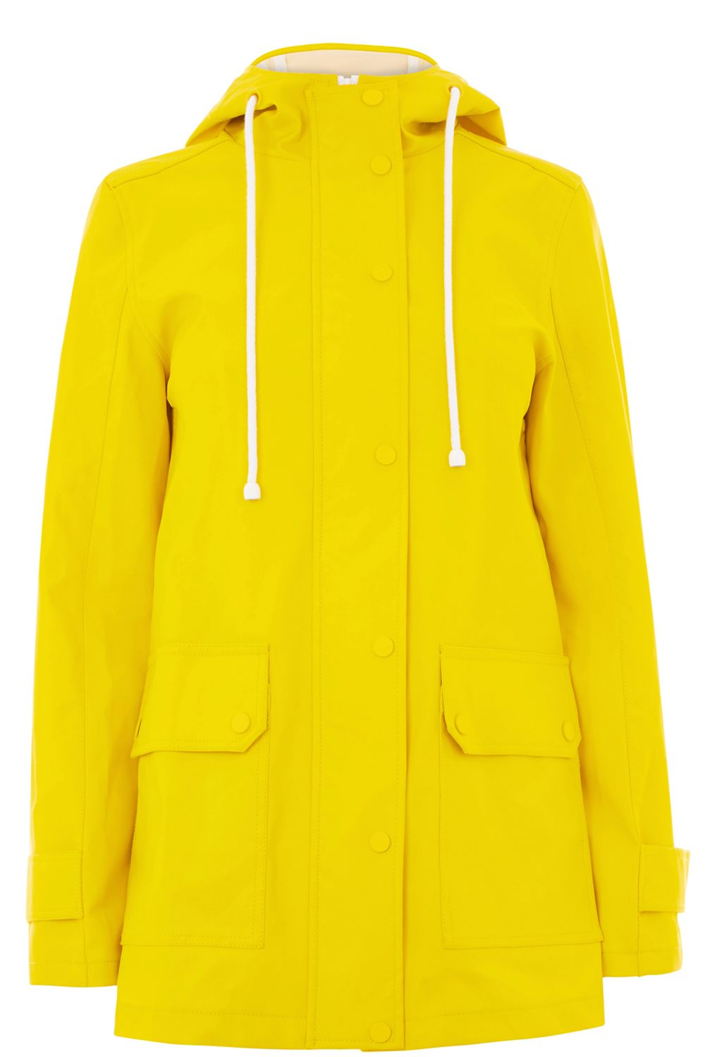 Warehouse Contrast Trim Anorak Yellow
