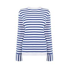 Warehouse Stripe High Neck Jumper