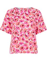 Warehouse Poppy Print T-Shirt