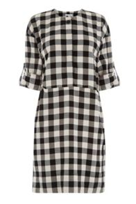 Warehouse Gingham Popper Dress