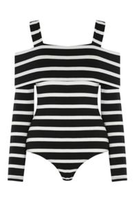 Warehouse Stripe Off The Shoulder Body