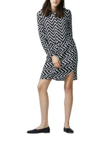 Warehouse Chevron Print Shirt Dress