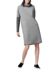 Warehouse Rib Detail Roll Neck Dress