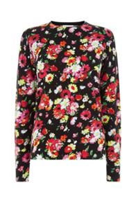 Warehouse Woodstock Floral Print Jumper