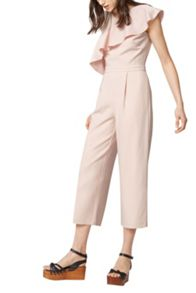 Warehouse Asymmetric Ruffle Jumpsuit