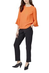 Warehouse Fluted Sleeve Top