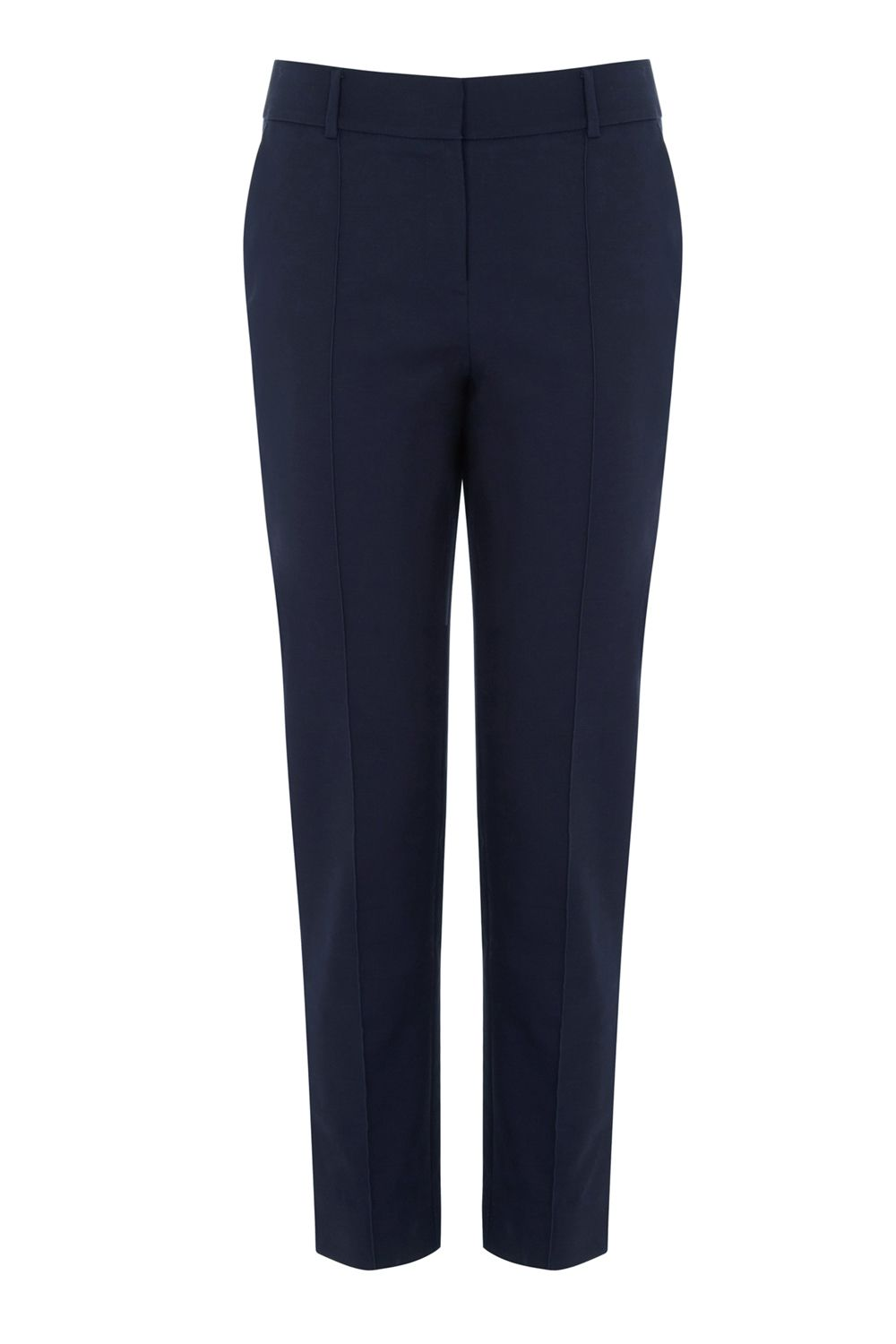 Warehouse Compact Cotton Trouser, Blue