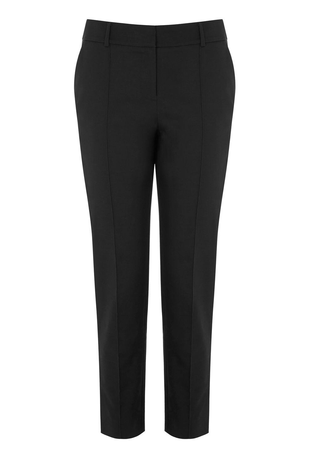 Warehouse Compact Cotton Trouser, Black