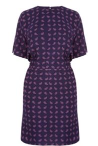 Warehouse Mini Paisley Shift Dress