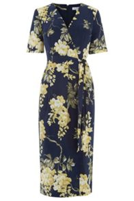 Warehouse Wisteria Floral Wrap Dress