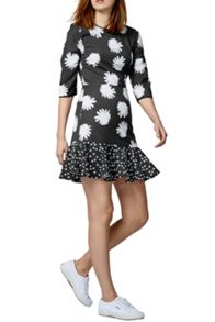 Warehouse Daisy Floral Peplum Dress