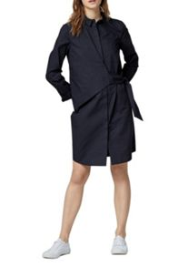 Warehouse Asymmetric Wrap Shirt Dress