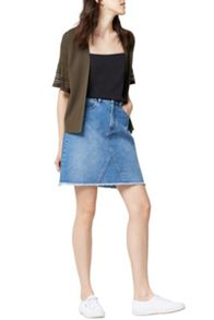 Warehouse Pointelle Fluted Cuff Cardi