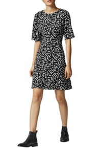 Warehouse Ditsy Floral Ponte Dress