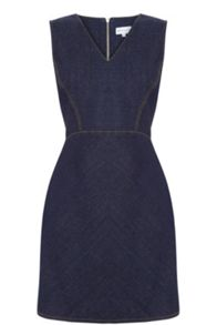 Warehouse Seam Detail Denim Dress