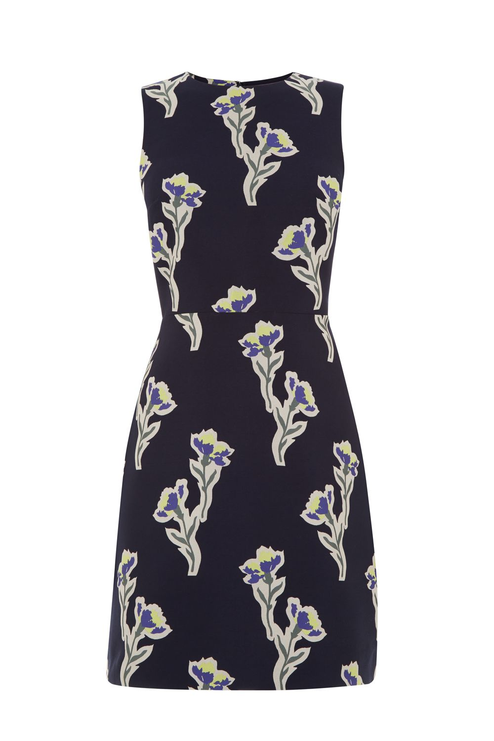 Warehouse Iris Jacquard Dress, Multi-Coloured