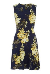 Warehouse Wisteria Print Dress