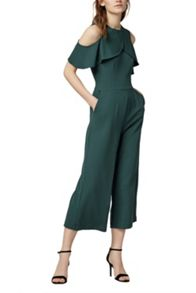 Warehouse CREPE OVERLAY JUMPSUIT