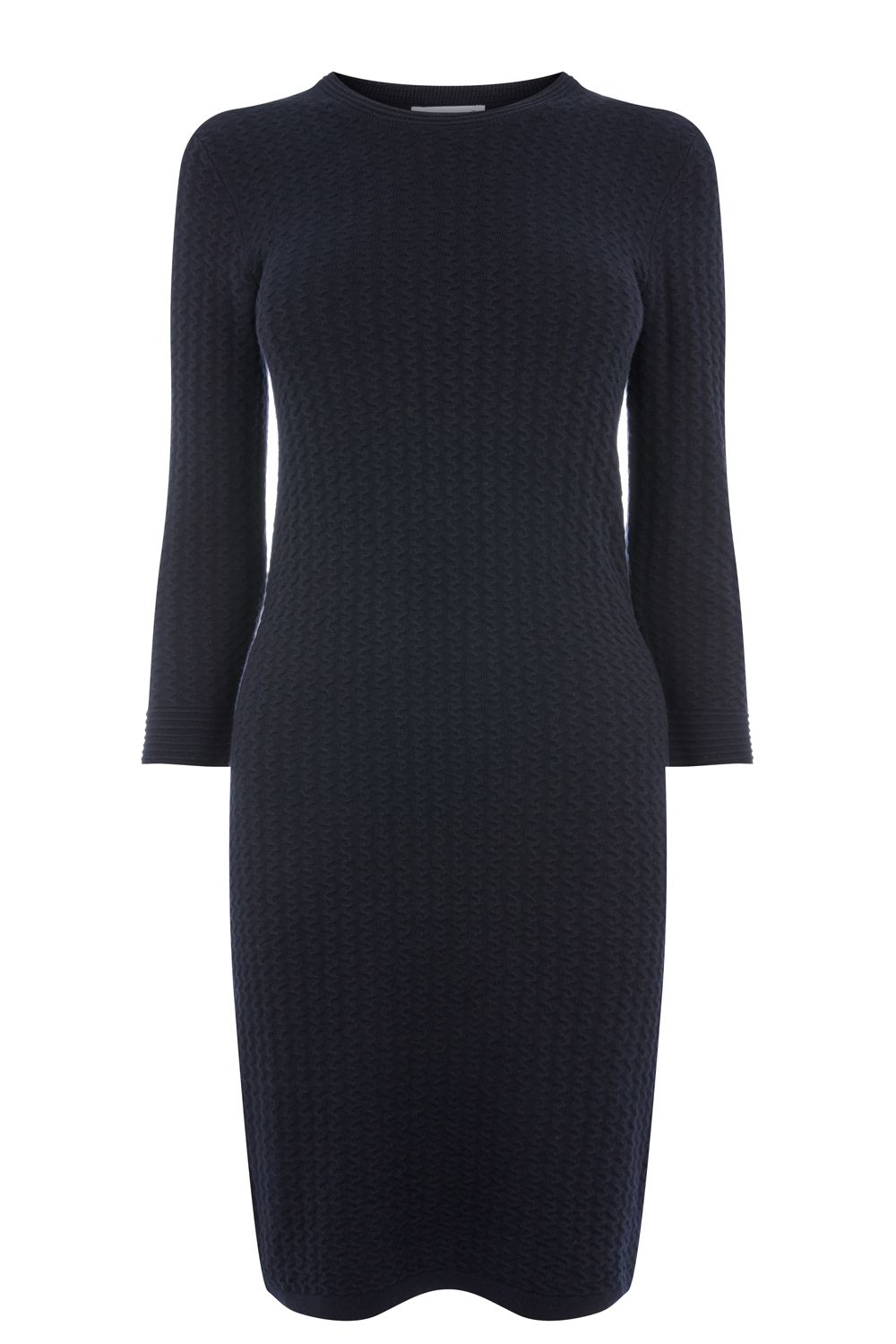 Warehouse Bobble Stitch Knit Dress, Blue