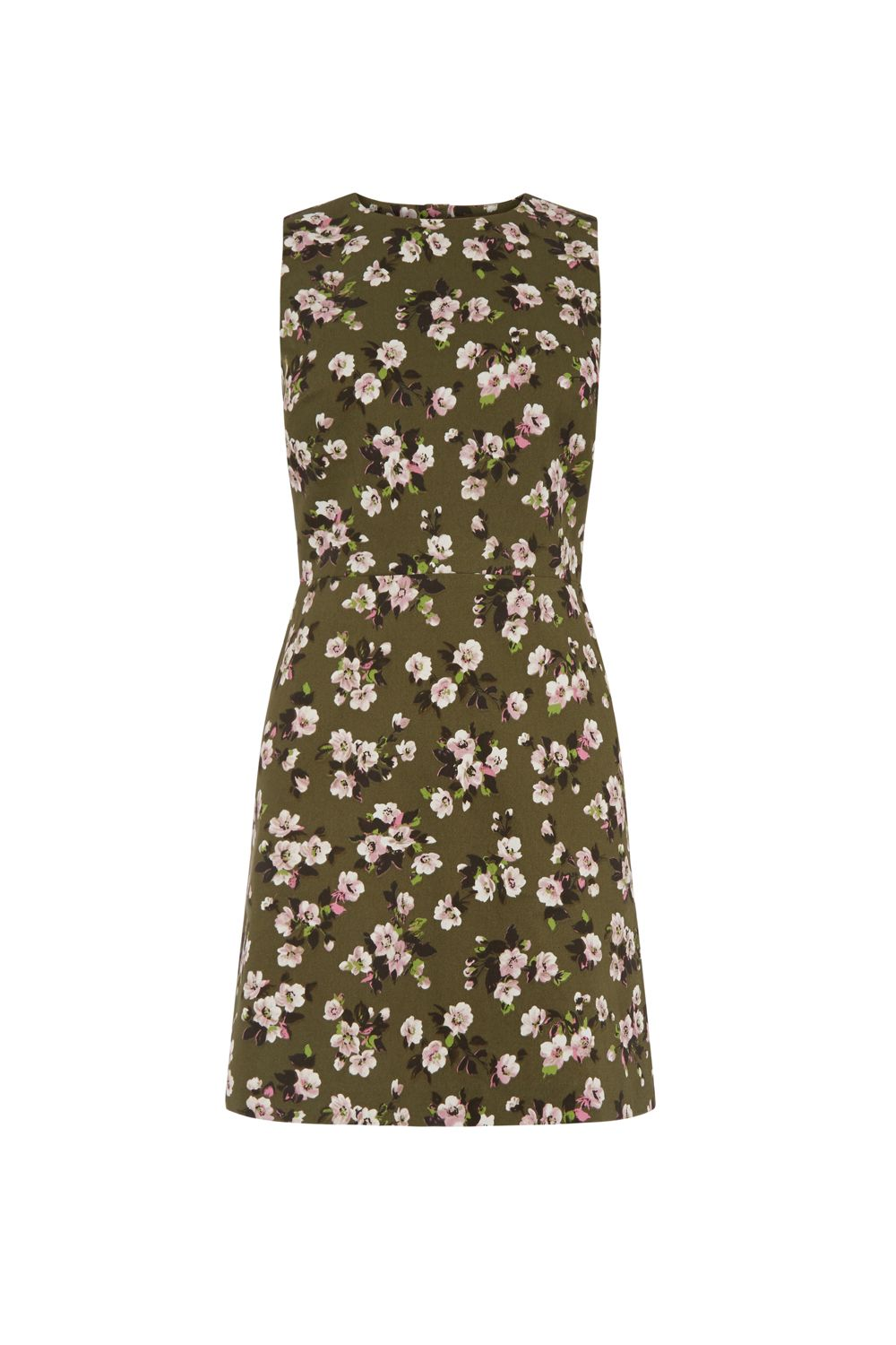 Warehouse Mae Floral Shift Dress, Multi-Coloured