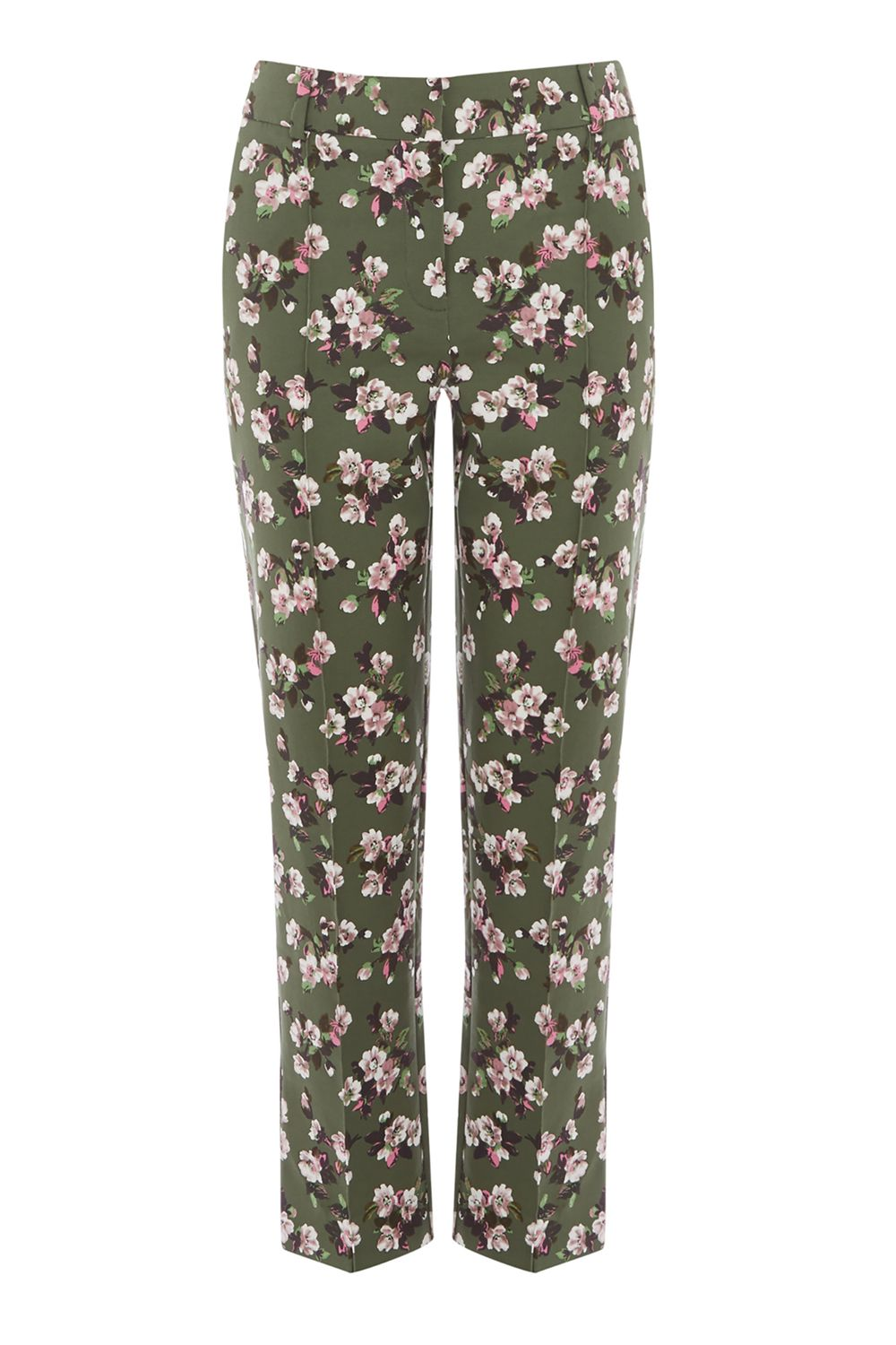 Warehouse Mae Floral Trousers, Multi-Coloured