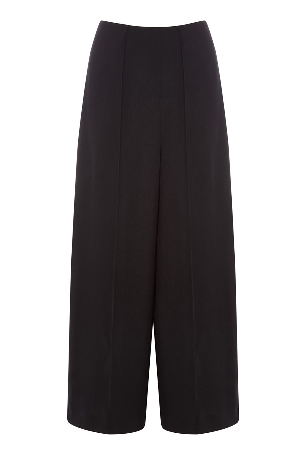 Warehouse Pintuck Culottes, Black