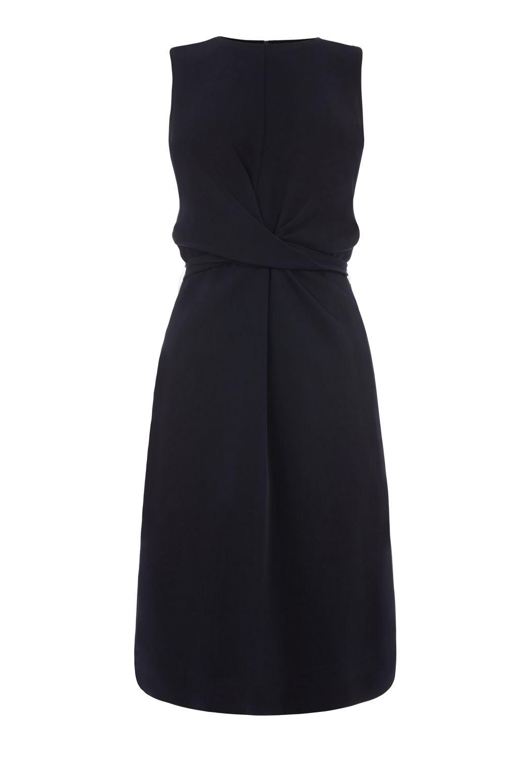 Warehouse Sleeveless Wiggle Dress, Blue