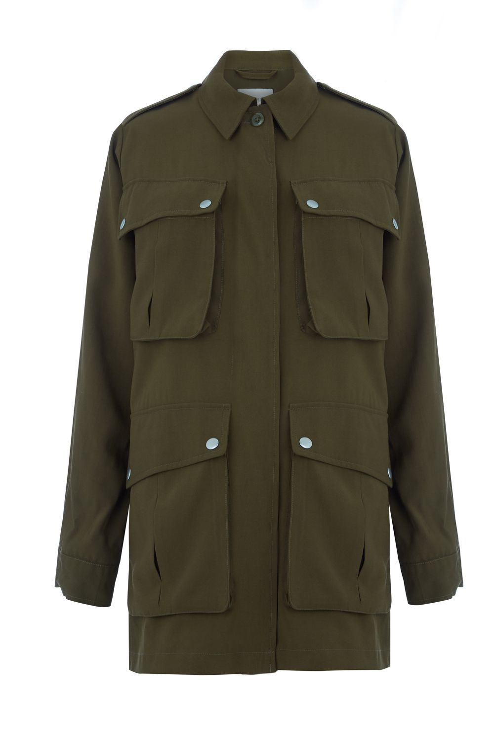 Warehouse Four Pocket Military Jacket, Khaki