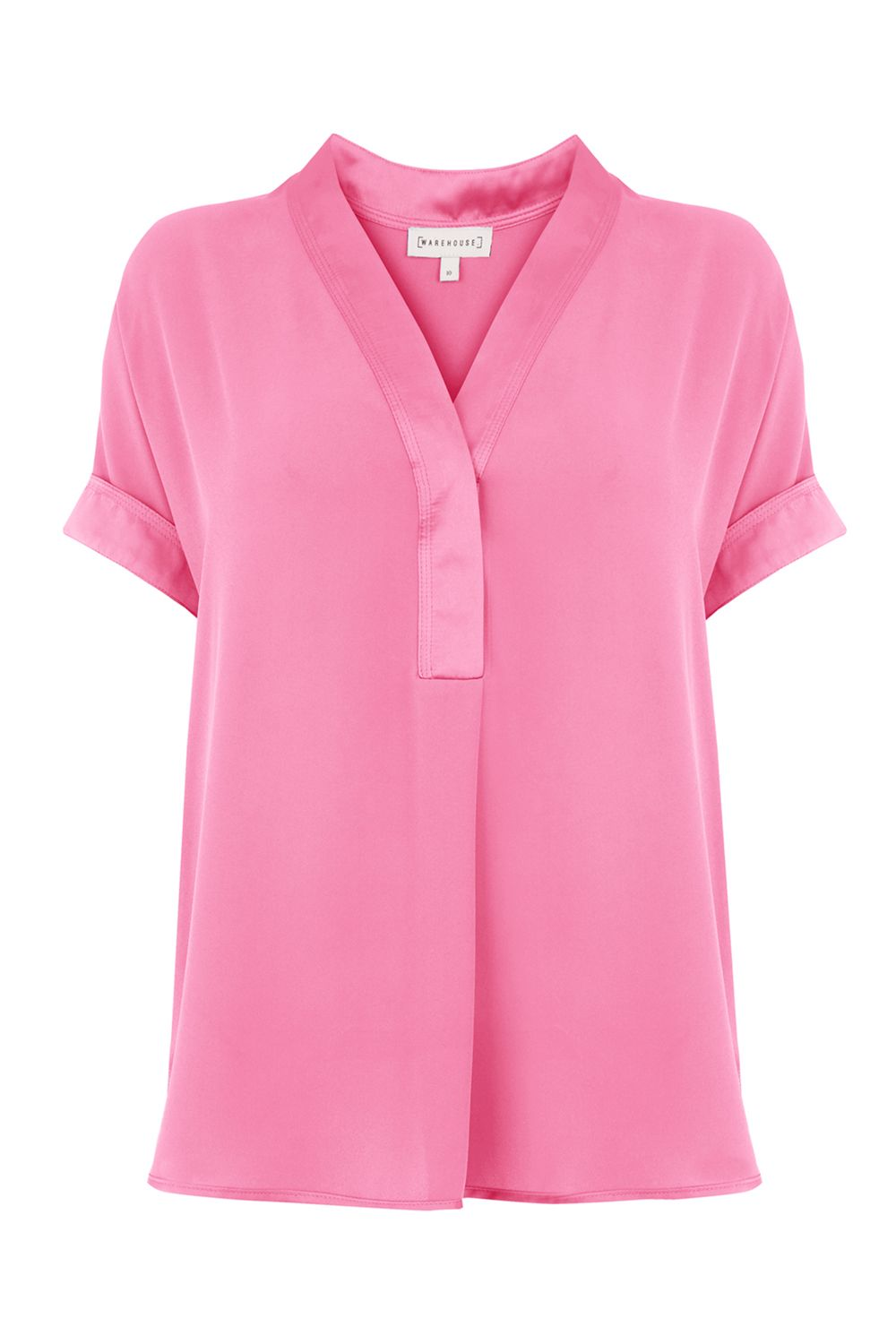 Warehouse Satin Mix Blouse, Pink