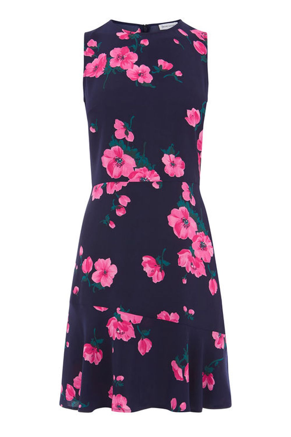 Warehouse Delia Print Dress, Multi-Coloured
