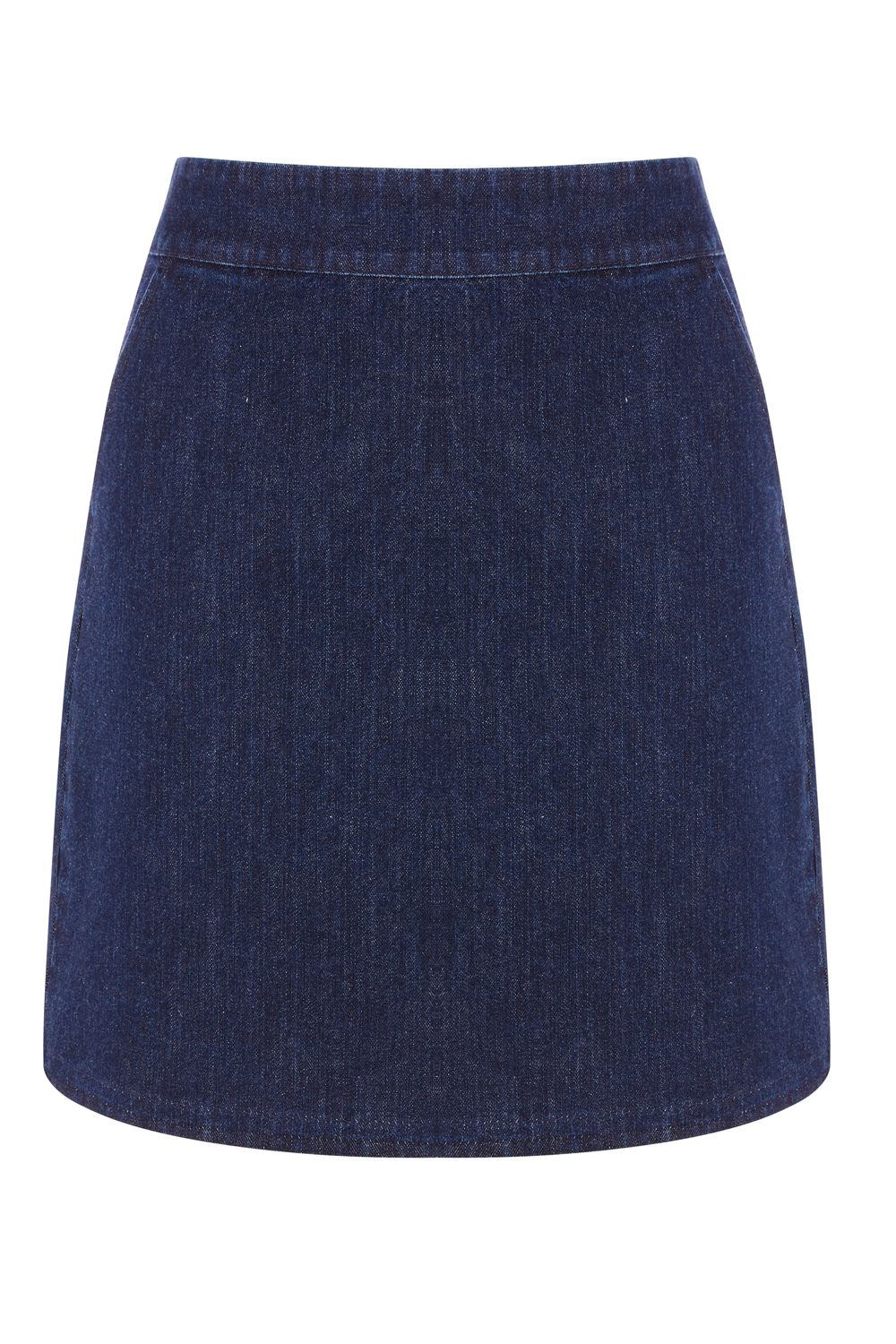 Warehouse A Line Denim Skirt, Denim Indigo