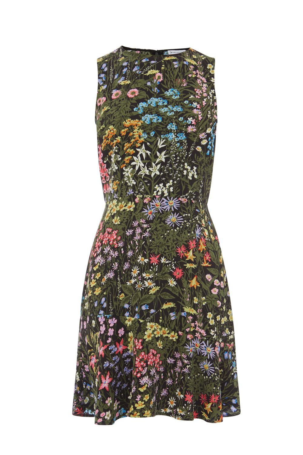 Warehouse Wild Garden Dress, Multi-Coloured