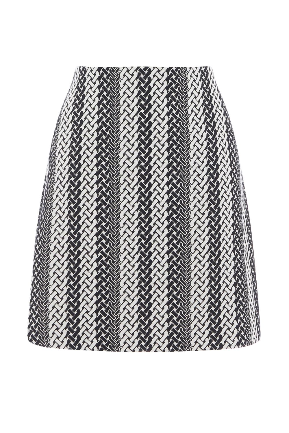Warehouse Link Jacquard Skirt, Multi-Coloured