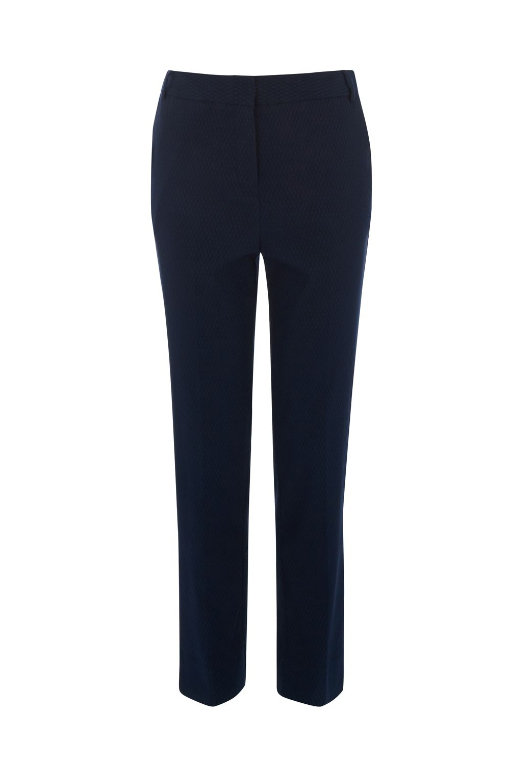 Warehouse Textured Slim Leg Trouser, Blue