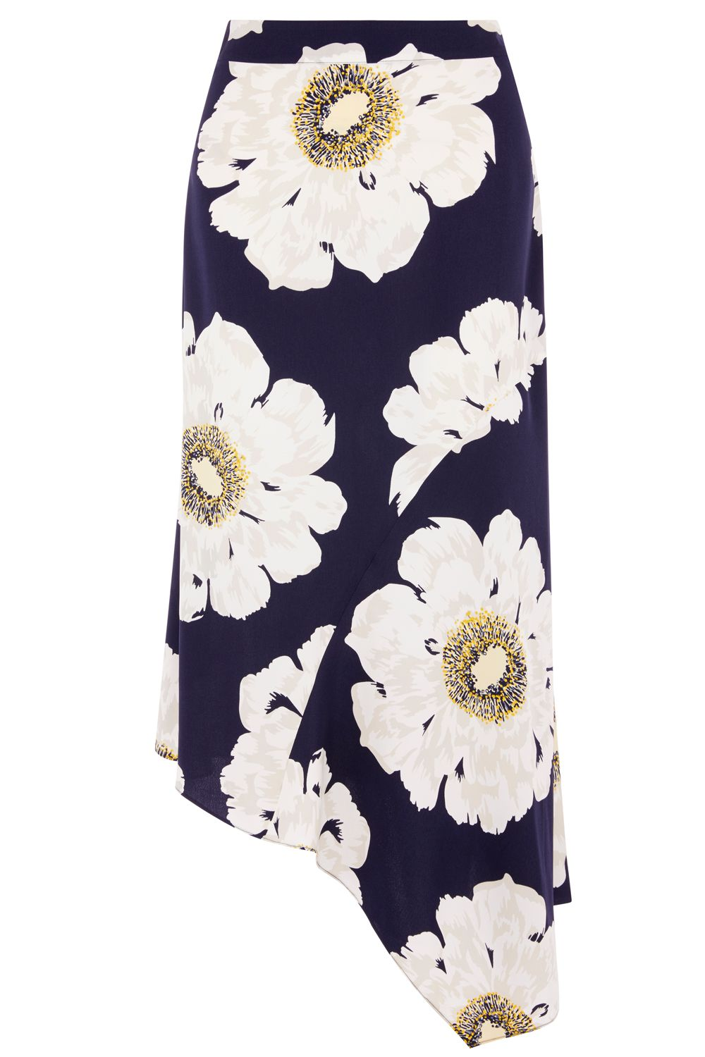 Warehouse Melody Floral Skirt, Blue