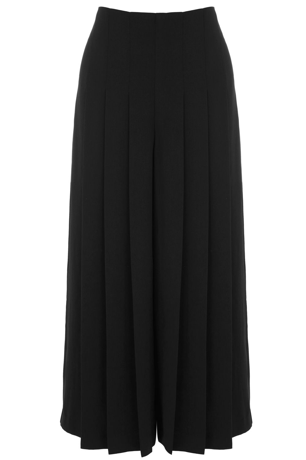 Warehouse Pleated Culottes, Black