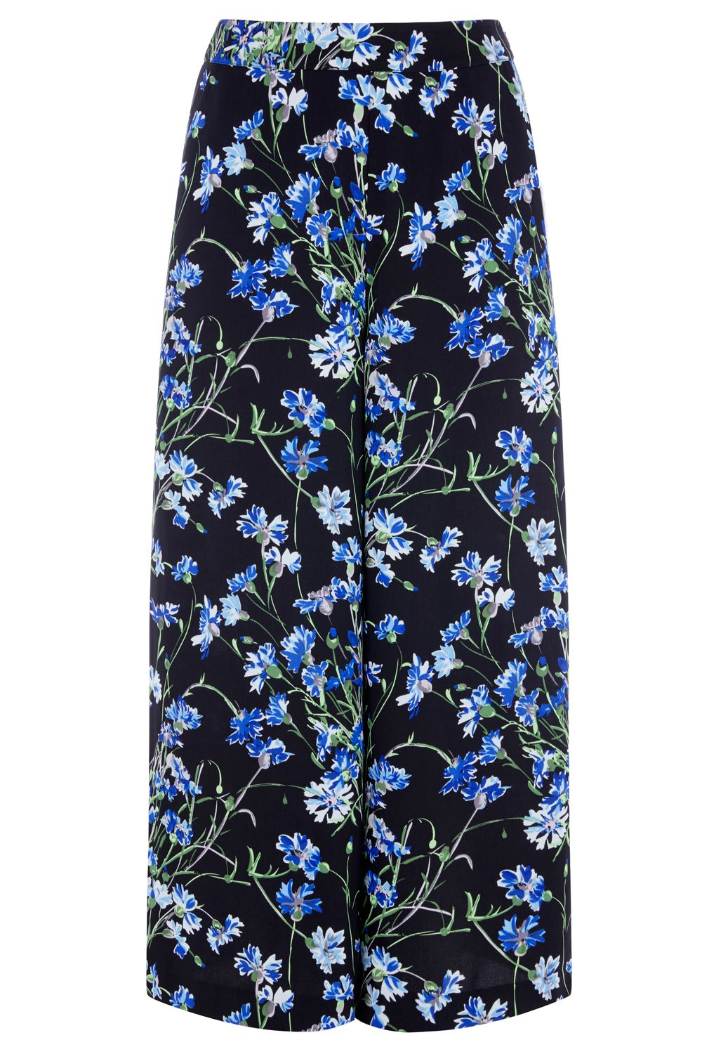 Warehouse Full Bloom Culottes, Black