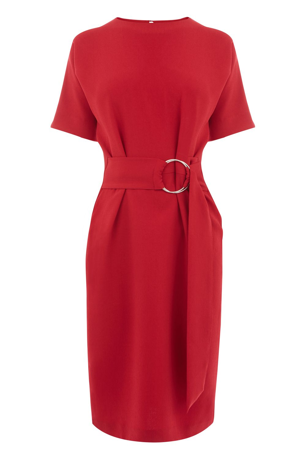 Warehouse O Ring Dress, Dark Red