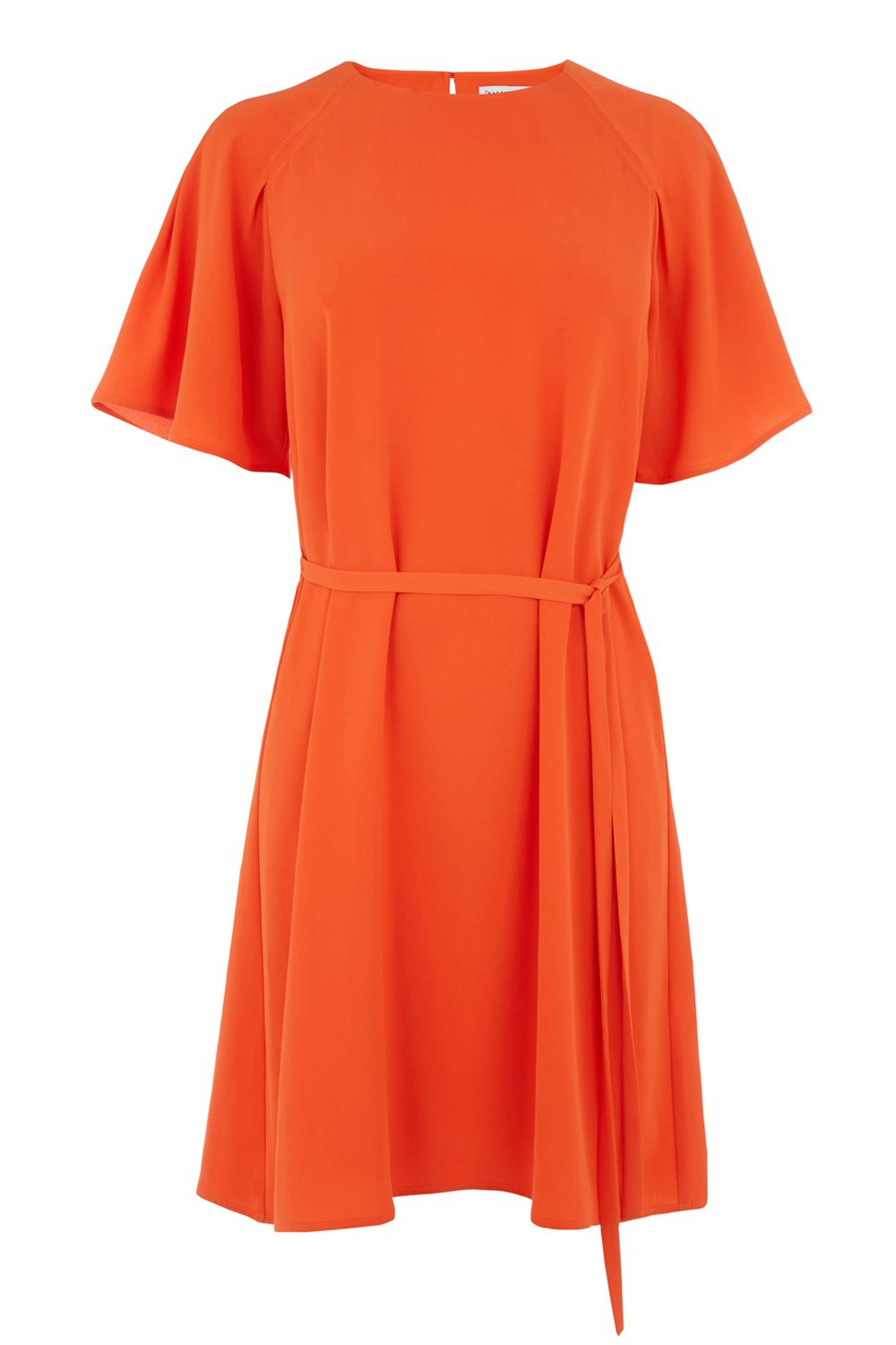Warehouse Pleated Sleeve Dress, Red