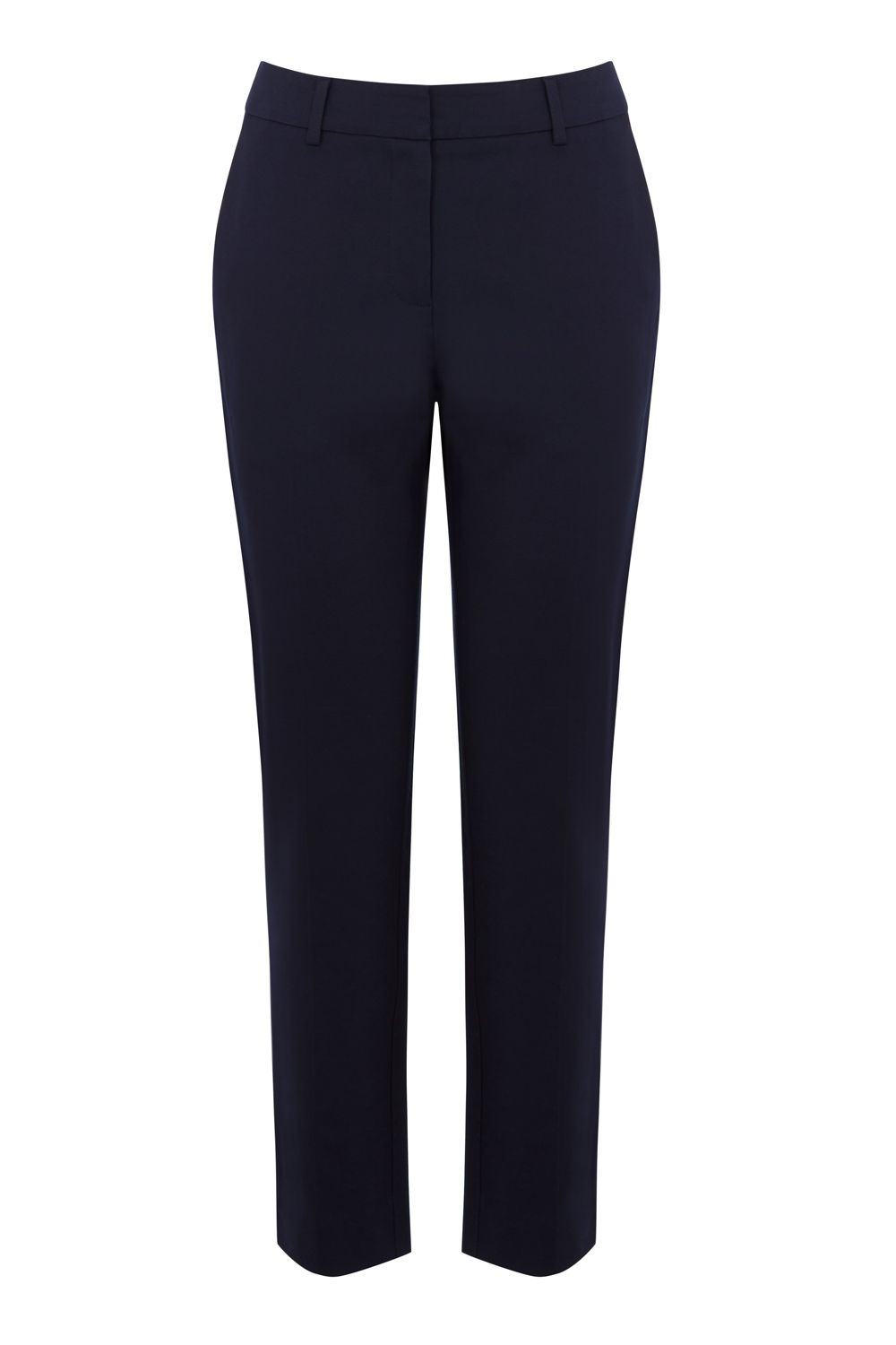 Warehouse Compact Cotton Trousers, Blue