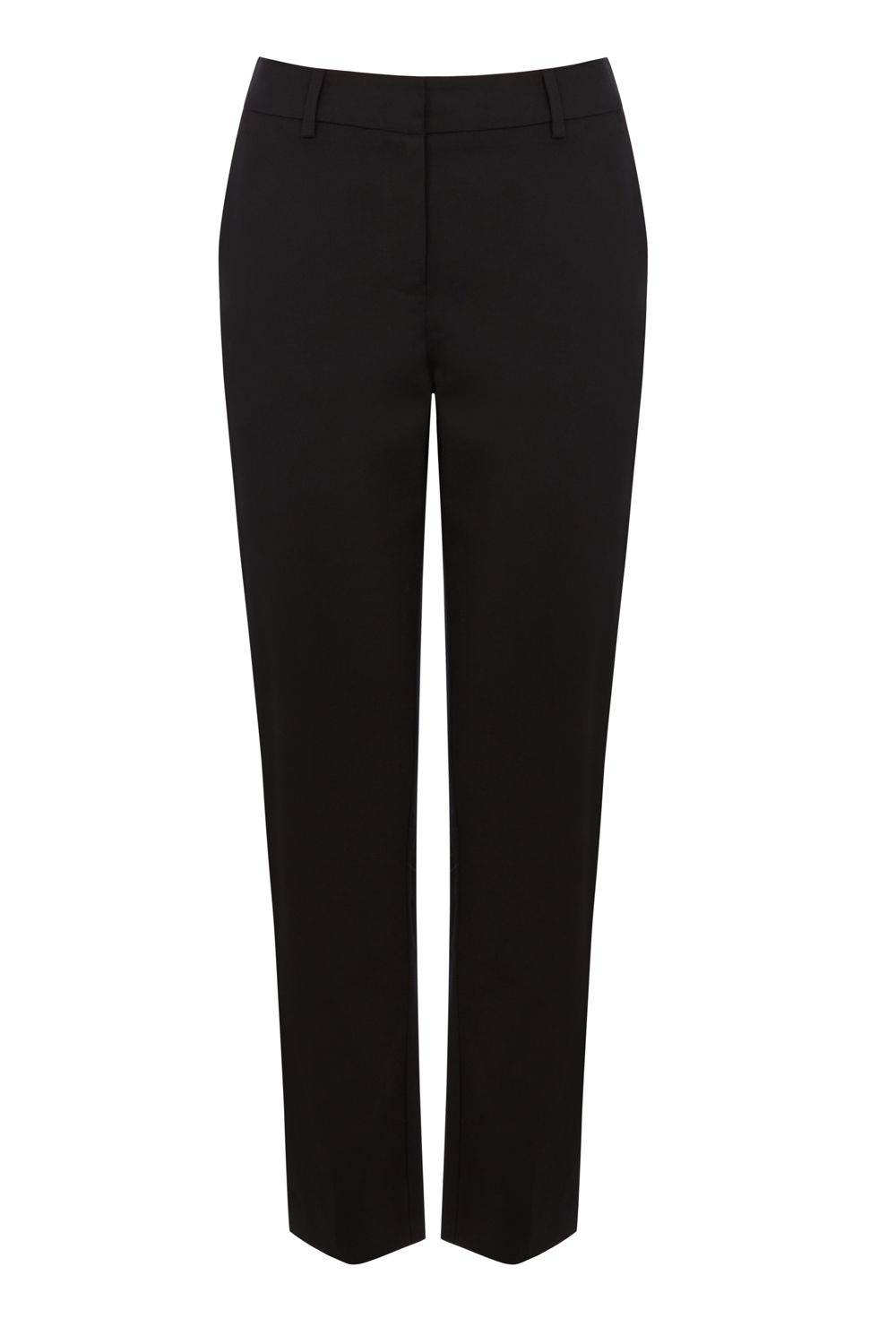 Warehouse Compact Cotton Trousers, Black