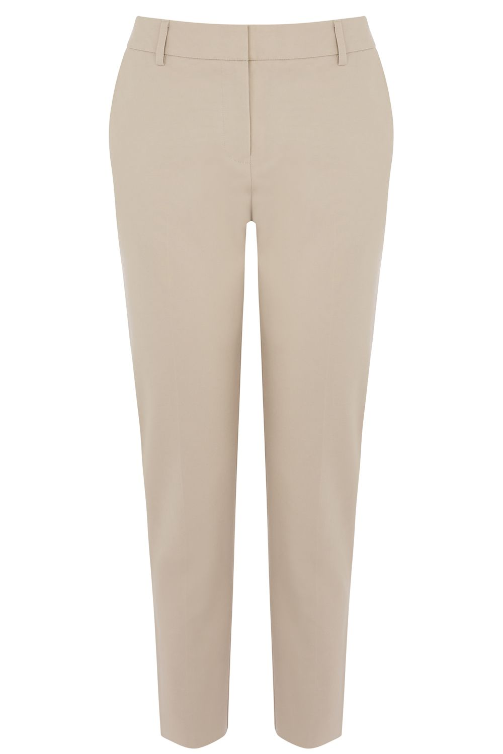 Warehouse Compact Cotton Trousers, Stone