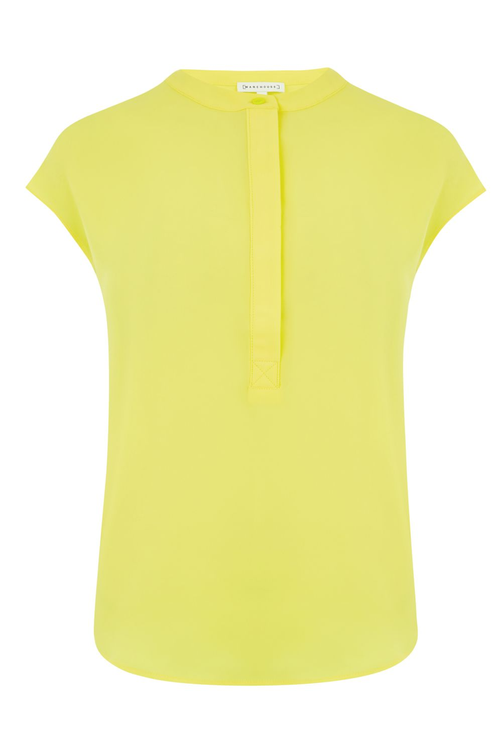 Warehouse Button Side Blouse, Yellow