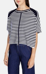 Graphic Stripe Knit Top