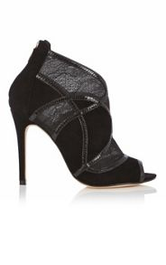 Karen Millen Lace suede shoe boot