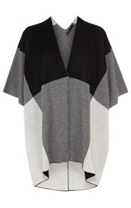 Oversize Check Knit Cape