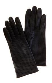Punched leather glove