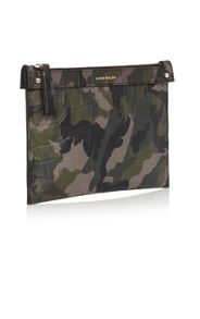 Karen Millen Camo Leather Pouch