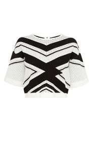 Karen Millen Chevron Stripe Knit